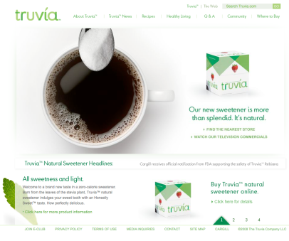 Truvia website